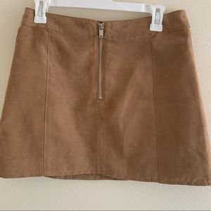 H&M Suede Mini Skirt